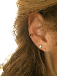 Mid Cartilage Ear Piercing