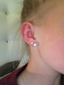 Middle Cartilage Ear Piercing