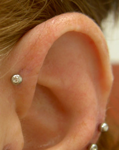 Forward Helix Ear Piercing