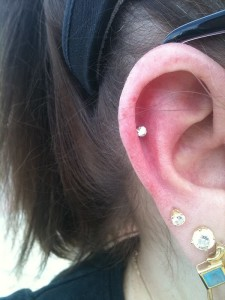 Mid Helix Piercing