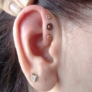 Triple Forward Helix Piercing Jewelry