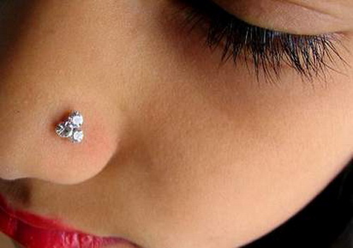 Nose Piercing Ring Stud