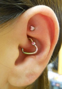 Daith and Rook Piercing