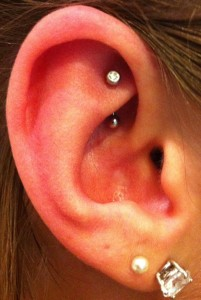 Diamond Rook Piercing