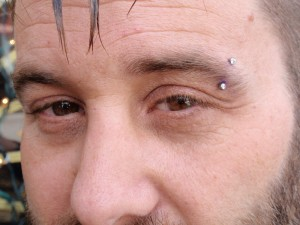 Diamond Eyebrow Piercing