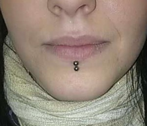 Double Labret Piercing