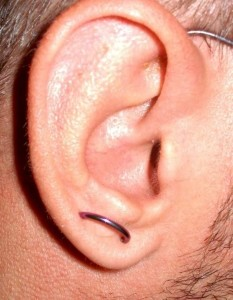 Orbital Lobe Piercing