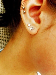 Double Auricle Piercing