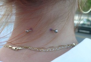 Nape Barbell Piercing