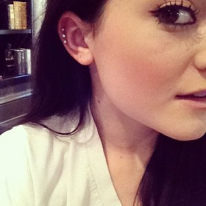 Triple Auricle Piercing