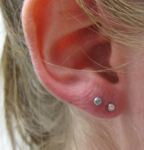 Double Ear Lobe Piercing