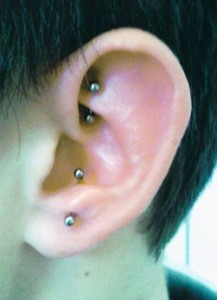 Rook and Anti Tragus Piercing