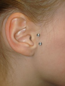 Vertical Tragus Piercing Pictures