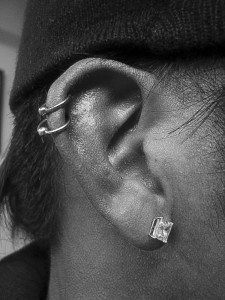 Double Cartilage Piercing Bar