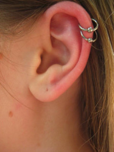 Double Cartilage Piercing Earrings