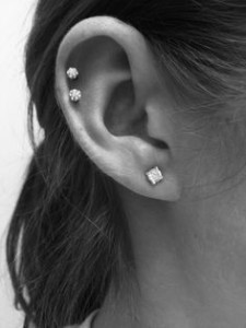 Double Cartilage Piercings