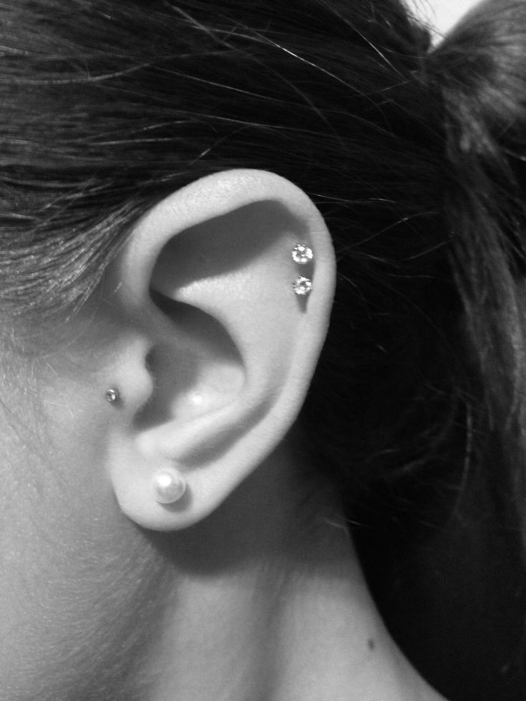 Double cartilage piercing Aftercare, Complications ... Ear Piercings Cartilage