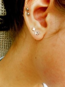 Double Middle Cartilage Piercing