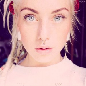 Septum and Medusa Piercing