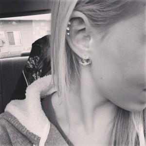 Triple Cartilage Piercings