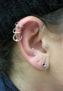 Triple Helix Cartilage Piercing