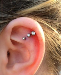 Triple Ear Cartilage Piercing