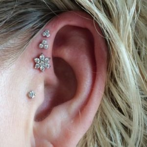Triple Forward Helix Ear Piercing Jewelry