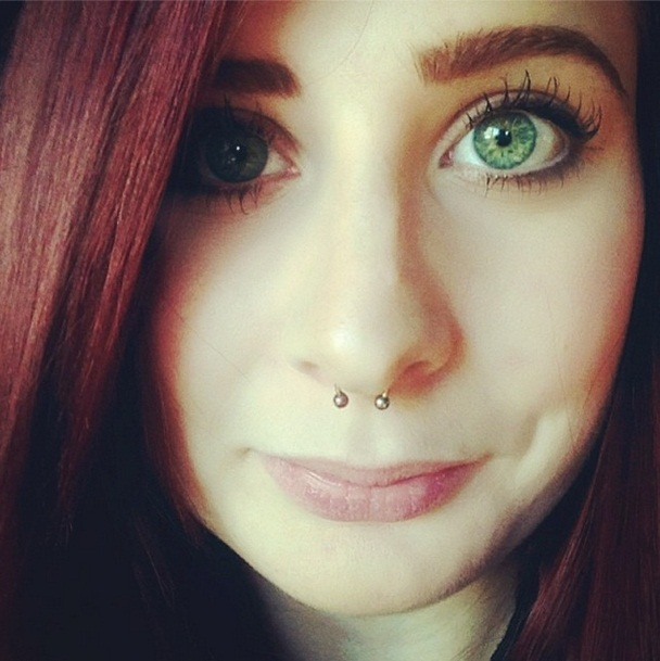 Septum piercing information pain aftercare jewelry