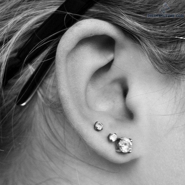 Triple Ear Lobe Piercing Body Piercing Magazine